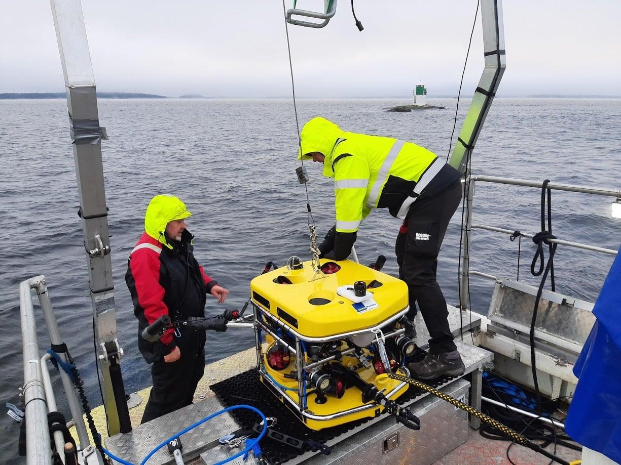 Undervattensinspektion och 3D scanning av vraket kraveln