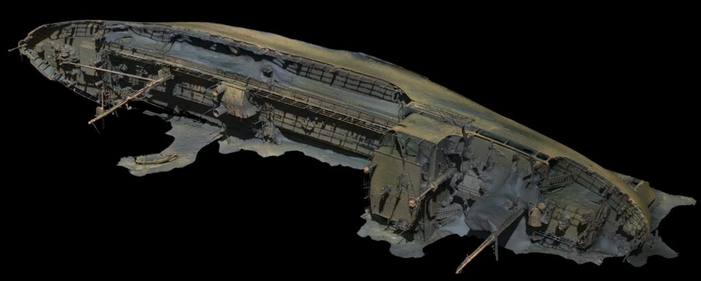 3D Scanning med fotogrammetri av vraket Lindesnäs