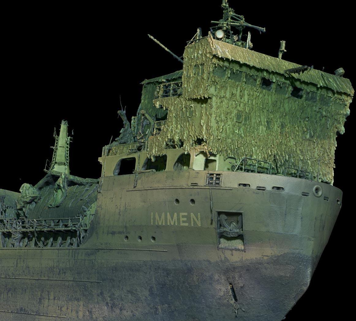 3D scanning shipwreck