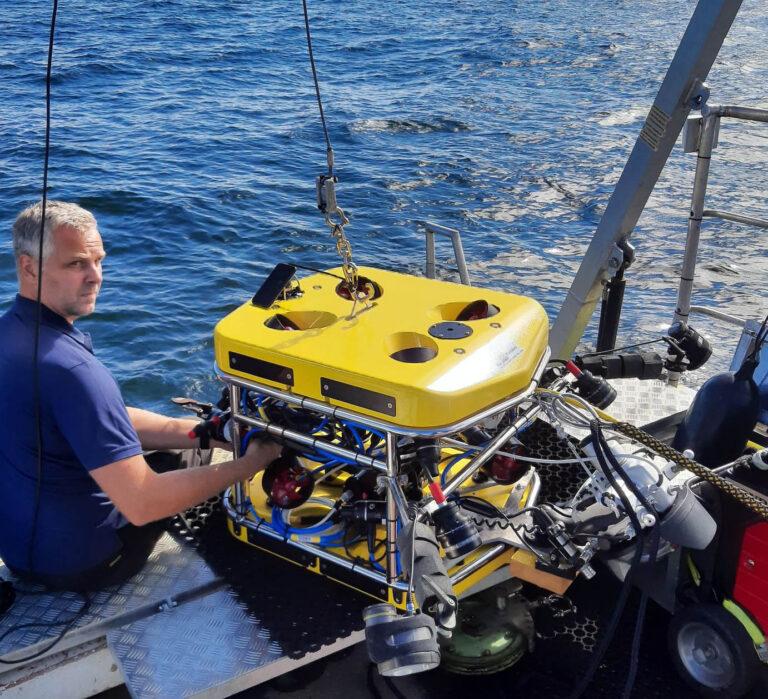 3D scanning ROV utrustad för fotogrammetri