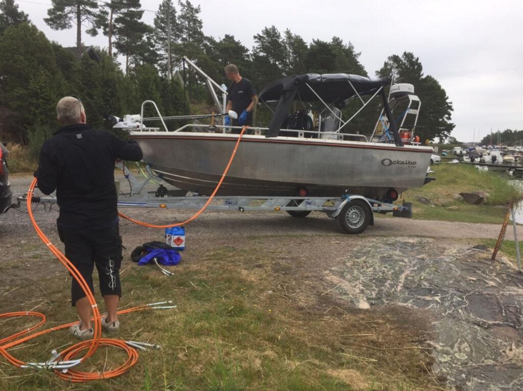 side scan sonar sjömätning och undersökning